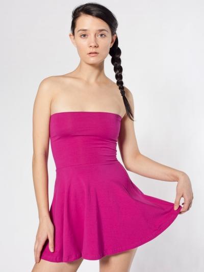 American Apparel Cotton Spandex Jersey High-Waist Skirt