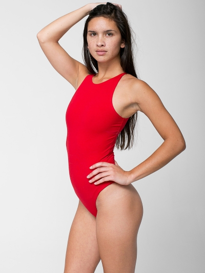 American Apparel Cotton Spandex Sleeveless Thong Bodysuit