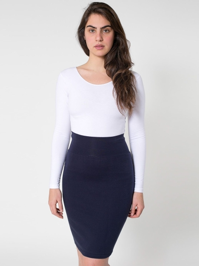 American Apparel Interlock Pencil Skirt